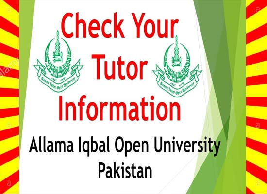 AIOU Tutor Letter Address 2019