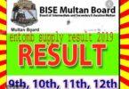 BISE Multan Board Inter Part-II Combined Supply