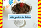 How To Make Chocolate Halwa Recipe Hindi and English