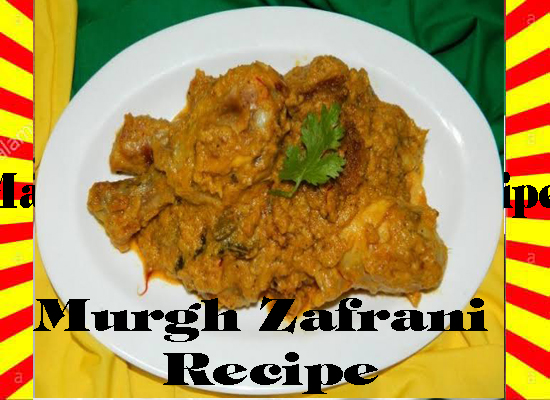 How To Make Murgh Zafrani Recipe