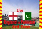 England vs Pakistan 3rd Test Match 2020 Live