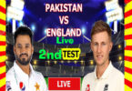 Pakistan vs England 2nd Test Southampton 13 Aug 2020 Live and Highlights
