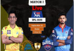 Today Cricket Match CSK VS DC IPL 7th T20 Live Update 25 Sep 2020