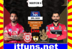 Today Cricket Match KXIP VS RCB Live Update 24 Sep 2020
